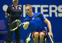 22-12-13,Netherlands, Rotterdam,  Topsportcentrum, Tennis Masters, Wheelchair Final, Maikel Scheffers(NED)    <br /> Photo: Henk Koster