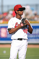 June 15th 2008:  Pitcher Miguel Ramirez of the Great Lakes Loons, Class-affiliate of the Los Angeles Dodgers, during a game at Dow Diamond in Midland, MI.  Photo by:  Mike Janes/Four Seam Images