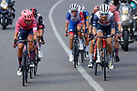 Magnus Cort Nielsen (DEN) EF Education-Nippo and Quinn Simmons (USA) Trek-Segafredo lead the breakaway during Stage 19 of La Vuelta d'Espana 2021, running 191.2km from Tapia de Casariego to Monforte de Lemos, Spain. 3rd September 2021.    <br /> Picture: Luis Angel Gomez/Photogomezsport   Cyclefile<br /> <br /> All photos usage must carry mandatory copyright credit (© Cyclefile   Luis Angel Gomez/Photogomezsport)