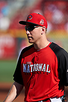 Cincinnati Reds Todd Frazier during practice before the MLB All-Star Game on July 14, 2015 at Great American Ball Park in Cincinnati, Ohio.  (Mike Janes/Four Seam Images)