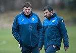 St Johnstone Training….20.01.17<br />Manager Tommy Wright pictured with Callum Davidson during training this monring ahead of tomorrow's Scottish Cup game against Stenhousemuir.<br />Picture by Graeme Hart.<br />Copyright Perthshire Picture Agency<br />Tel: 01738 623350  Mobile: 07990 594431