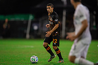 LAKE BUENA VISTA, FL - JULY 23: Matias Vera #22 of the Houston Dynamo dribbles the ball during a game between Los Angeles Galaxy and Houston Dynamo at ESPN Wide World of Sports on July 23, 2020 in Lake Buena Vista, Florida.