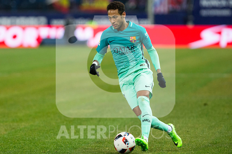 FC Barcelona's forward Neymar Santos Jr in action  during the match of Copa del Rey between Atletico de  Madrid and Futbol Club Barcelona at Vicente Calderon Stadium in Madrid, Spain. February 1st 2017. (ALTERPHOTOS/Rodrigo Jimenez)