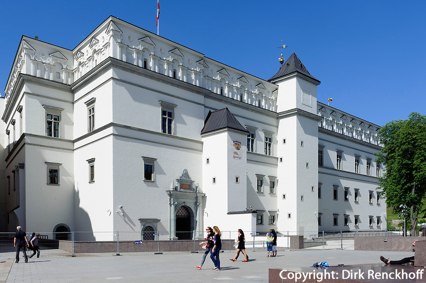Großfürstenpalast iin Vilnius, Litauen, Europa, Unesco-Weltkulturerbe