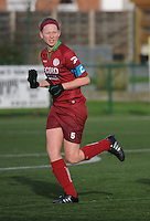 20160116 - ZULTE , BELGIUM : Zulte-Waregem's Francoise Delcoigne  pictured during a soccer match between the women teams of ZULTE-WAREGEM and AA GENT B  , during the fifteenth matchday in the First League - Eerste Nationale season, Saturday 16 January 2016 . PHOTO DIRK VUYLSTEKE
