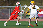 Baltimore, MD - March 3: Midfielder Brian Patton #31 of the UMBC Retrievers  during the Fairfield v UMBC mens lacrosse game at UMBC Stadium on March 3, 2012 in Baltimore, MD.
