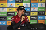 Geraint Thomas (WAL) Team Ineos press conference after Stage 20 of the 2019 Tour de France running 59.5km from Albertville to Val Thorens, France. 27th July 2019.<br /> Picture: Colin Flockton | Cyclefile<br /> All photos usage must carry mandatory copyright credit (© Cyclefile | Colin Flockton)
