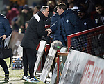 Ross County v St Johnstone…27.12.17…  Global Energy Stadium…  SPFL<br />Owen Coyle welcomes Tommy Wright<br />Picture by Graeme Hart. <br />Copyright Perthshire Picture Agency<br />Tel: 01738 623350  Mobile: 07990 594431