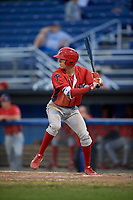 Williamsport Crosscutters shortstop Nick Maton (6) at bat during a game against the Batavia Muckdogs on August 3, 2017 at Dwyer Stadium in Batavia, New York.  Williamsport defeated Batavia 2-1.  (Mike Janes/Four Seam Images)