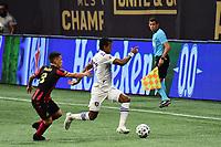 ATLANTA, GA - AUGUST 29: Nani #17 of Orlando City dribbles the ball during a game between Orlando City SC and Atlanta United FC at Marecedes-Benz Stadium on August 29, 2020 in Atlanta, Georgia.