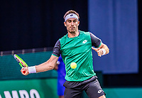 Rotterdam, The Netherlands, 28 Februari 2021, ABNAMRO World Tennis Tournament, Ahoy, Qualyfying match:  Norbert Gombos (SVK)<br /> Photo: www.tennisimages.com/henkkoster