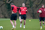 Cardiff - UK - 19th March 2013 : The Wales football squad training at the Vale Hotel and Resort pitch ahead of their international with Scotland at the weekend.