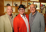From left: Michael Kempner, Ciro Flores and John Heinzerling at a special evening in honor of Alley Theatre's Wild Things at the Louis Vuitton store in The Galleria Wednesday Sept. 30,2015.(Dave Rossman photo)