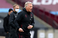 21st March 2021; London Stadium, London, England; English Premier League Football, West Ham United versus Arsenal; West Ham United Manager David Moyes on the touch line