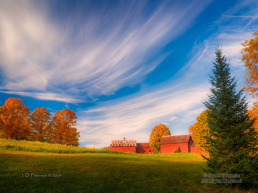 Autumn on Red Barn Road, Vermont