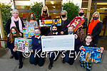Students at Presentation Secondary School had an appeal and they raised €1,087 for Kellihers Toys Upstairs for St Vincent de Paul and they presented the toys at the school on Monday. Front l to r: Maria Synowiecka, Kiaa Robinson, Ciara Lade, Vanessa Popko and Sarah Carthy. Back l to r: Marion Moore (St Vincent de Paul), Treasa Walsh (St Vincent de Paul), Sharon Sheehan (Toys Upstairs), Ann O'Sullivan (Toys Upstairs), Margaret Barry (Pres Tralee) and Chrissie Kelly (Principal).