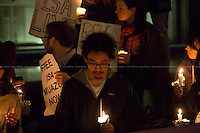 28.11.2013 - Candle-lit vigil for Isa Muazu outside the Home Office