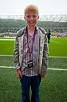 Saturday 17 August 2013<br /> <br /> Pictured: Mascots<br /> <br /> Re: Barclays Premier League Swansea City v Manchester United at the Liberty Stadium, Swansea, Wales