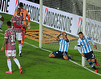 20th July 2021; Buenos Aires, Argentina;  Enzo Copetti of Racing, during the match between Racing and São Paulo, for the Round of 16 of the Libertadores 2021, at Estádio Presidente Perón