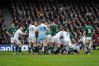 Tempers flare up between the players during the RBS 6 Nations match between Ireland and England at the Aviva Stadium, Dublin on Sunday 10 February 2013 (Photo by Rob Munro)