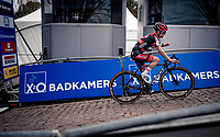 Eli Iserbyt (BEL/Pauwels Sauzen-Bingoal) wins the race up the brutal Koppenberg.<br /> <br /> Koppenbergcross 2020 (BEL)<br /> men's race<br /> <br /> ©kramon
