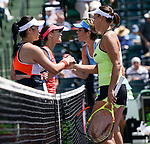 March 29 2017: Martina Hingis (SUI)/Yung-Jan Chan (TPE) defeats Andreja Klepac (SLO)/Maria Jose Martinez Sanchez (ESP) by 6-4, 6-2, at the Miami Open being played at Crandon Park Tennis Center in Miami, Key Biscayne, Florida. ©Karla Kinne/tennisclix/EQ