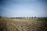 cliché image of Amstel (Holland): peloton passing windmill<br /> <br /> 50th Amstel Gold Race 2015