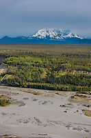 Mount wrangell of the Wrangell Mountains, Wrangell St. Elias National Park, Copper River, southcentral, Alaska.