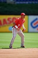 Washington Nationals Luis Garcia (7) during a Florida Instructional League game against the Miami Marlins on September 26, 2018 at the Marlins Park in Miami, Florida.  (Mike Janes/Four Seam Images)