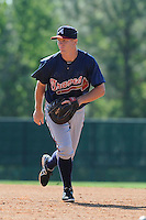 Infielder Barrett Kleinknecht (37) of the Atlanta Braves farm system in a Minor League Spring Training workout on Tuesday, March 17, 2015, at the ESPN Wide World of Sports Complex in Lake Buena Vista, Florida. (Tom Priddy/Four Seam Images)