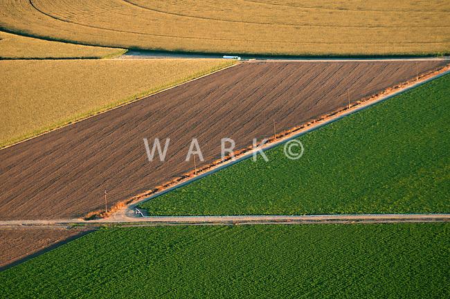 Crop fields. Pueblo County, Colorado. August 2011