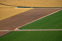 Crop fields. Pueblo County, Colorado. August 2011