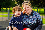 Enjoying the evening in the Listowel town park on Monday, l to r: Cathal and Niamh Canny from Athea.