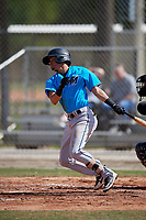 Miami Marlins Jorge Caballero (13) during a Minor League Spring Training Intrasquad game on March 28, 2019 at the Roger Dean Stadium Complex in Jupiter, Florida.  (Mike Janes/Four Seam Images)