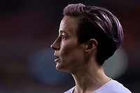 HOUSTON, TX - JANUARY 31: Megan Rapinoe #15 of the United States looks to the box during a game between Panama and USWNT at BBVA Stadium on January 31, 2020 in Houston, Texas.