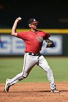 Arizona Diamondbacks third baseman Joe Munoz (37) during an Instructional League game against the Oakland Athletics on October 10, 2014 at Chase Field in Phoenix, Arizona.  (Mike Janes/Four Seam Images)