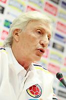 Colombia's coach Jose Nestor Pekerman in press conference before training session. June 6,2017.(ALTERPHOTOS/Acero) (NortePhoto.com) (NortePhoto.com)