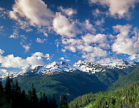 Mountains and clouds in Mt. Baker, Snowqualmie National Forest, Washington