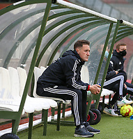 Head coach Jimmy Coenraets of OHL pictured before a female soccer game between RSC Anderlecht Dames and Oud Heverlee Leuven on the seventh matchday of play off 1 of the 2020 - 2021 season of Belgian Womens Super League , saturday 15 th of May 2021  in Brussels , Belgium . PHOTO SPORTPIX.BE   SPP   SEVIL OKTEM