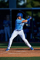 AZL Royals Enrique Valdez (4) at bat during an Arizona League game against the AZL Brewers Blue at Surprise Stadium on June 18, 2019 in Surprise, Arizona. AZL Royals defeated AZL Brewers Blue 12-7. (Zachary Lucy/Four Seam Images)