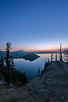 USA, OR, Crater Lake NP, Crater Lake Dawn