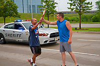 Police Special Olympics Torch Relay Wheeling Illinois 6-10-18