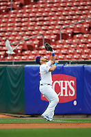 Buffalo Bisons first baseman Jesus Montero (48) catches a popup during a game against the Durham Bulls on June 13, 2016 at Coca-Cola Field in Buffalo, New York.  Durham defeated Buffalo 5-0.  (Mike Janes/Four Seam Images)