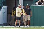 The New Orleans Saints practice at Yulman Stadium on the campus of Tulane University.