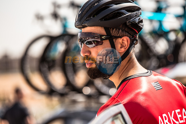 Nacer Bouhanni (FRA) Team Arkea Samsic at sign on before the start of Stage 1 of the Saudi Tour 2020 running 173km from Saudi Arabian Olympic Committee to Jaww, Saudi Arabia. 4th February 2020. <br /> Picture: ASO/Kåre Dehlie Thorstad | Cyclefile<br /> All photos usage must carry mandatory copyright credit (© Cyclefile | ASO/Kåre Dehlie Thorstad)