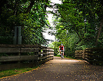 Bike path in Xenia Ohio near Xenia Station.