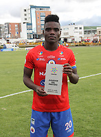 IPIALES-COLOMBIA ,12-10-2019.Andrey Stupinan jugador del Deportivo Pasto.Acción de juego entre los equipos Deportivo Pasto y Atlético Junior  durante partido por la fecha 17 de la Liga Águila II 2019 jugado en el estadio Municipal de Ipiales./Andrey Stupinan player of Deportivo Pasto. Action game between  Deportivo Pasto and Atletico Junior   during the match for the date 17 of the Aguila League II 2019 played at Municipal stadium in Ipiales city. Photo: VizzorImage/ Leonardo Castro / Contribuidor