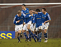 14/01/2006         Copyright Pic: James Stewart.File Name : sct_jspa11_clyde_v_stjohnstone.KEVIN JAMES CELEBRATES AFTER HE HEADS HOME ST JOHNSTONE'S THIRD GOAL....Payments to :.James Stewart Photo Agency 19 Carronlea Drive, Falkirk. FK2 8DN      Vat Reg No. 607 6932 25.Office     : +44 (0)1324 570906     .Mobile   : +44 (0)7721 416997.Fax         : +44 (0)1324 570906.E-mail  :  jim@jspa.co.uk.If you require further information then contact Jim Stewart on any of the numbers above.........