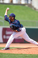 Cedar Rapids Kernels pitcher Manuel Soliman #30 pitches during a game against the Lansing Lugnuts at Veterans Memorial Stadium on April 30, 2013 in Cedar Rapids, Iowa. (Brace Hemmelgarn/Four Seam Images)