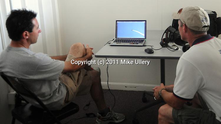Michael Goulian and Jeff Boerboon rehearse for Oshkosh at Piqua Hartzell Airport